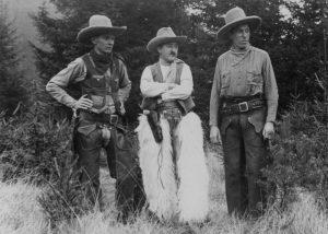 Die drei Gründer des Cowboy Club München, 1937 im Harlachinger Wald