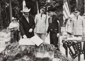 Grundsteinlegung des Vereinsgeländes 1961