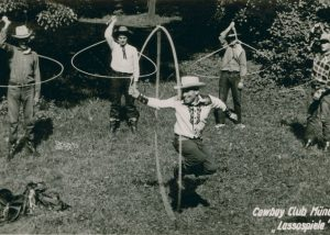 Lassospiele des Cowboy Club München, um 1953